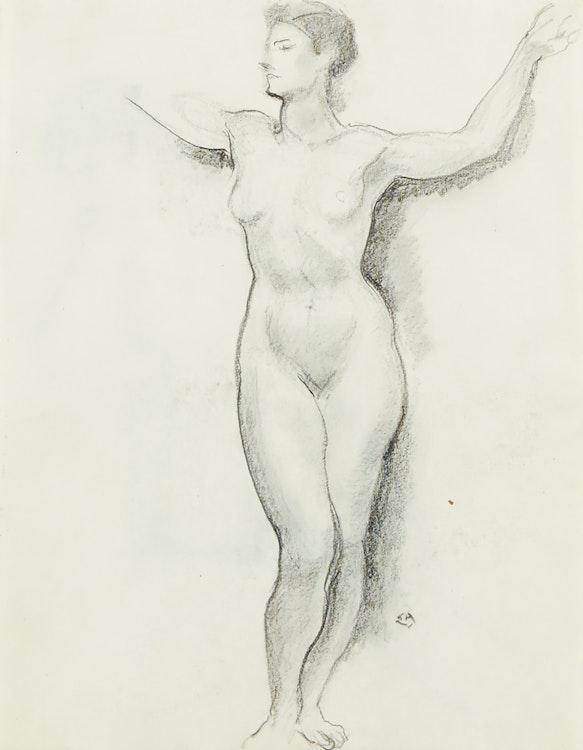 Artwork by Edwin Headley Holgate,  Nude