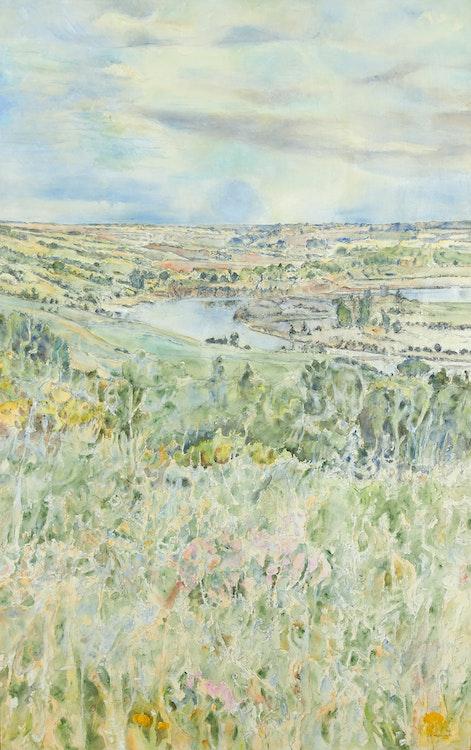 Artwork by Dorothy Elsie Knowles,  Soft Greens in May