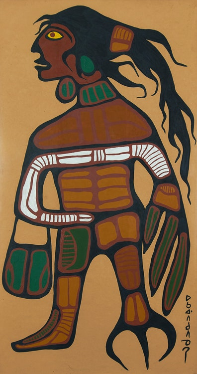 Artwork by Norval Morrisseau,  Warrior