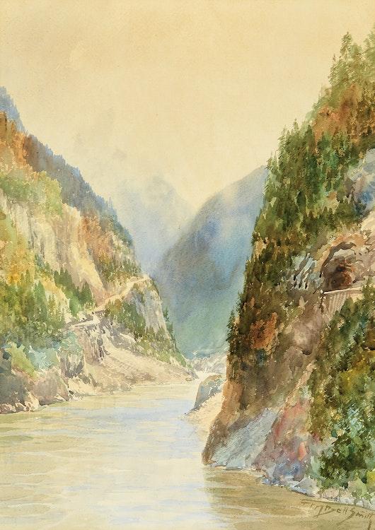 Artwork by Frederic Marlett Bell-Smith,  The Fraser River