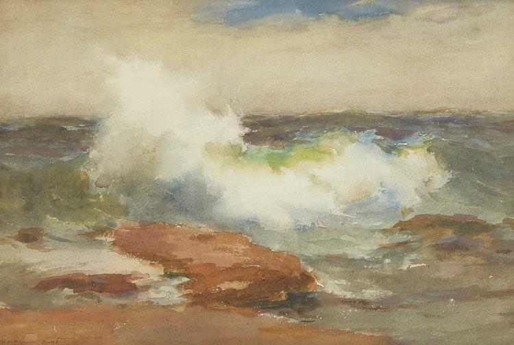Artwork by William St Thomas-Smith,  Crashing Waves
