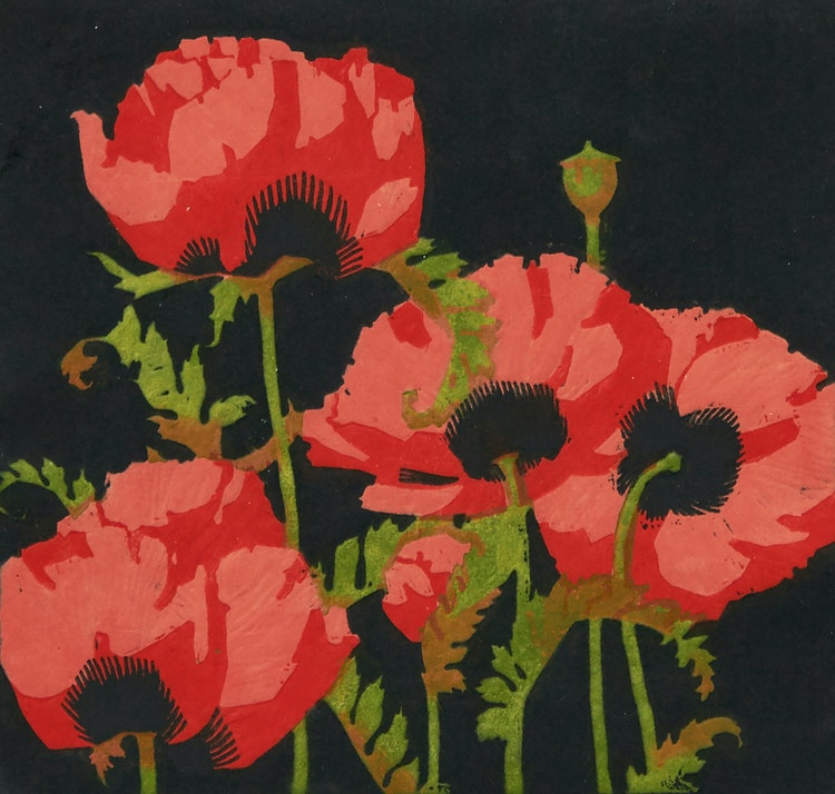 Artwork by Alfred Joseph Casson,  Oriental Poppies