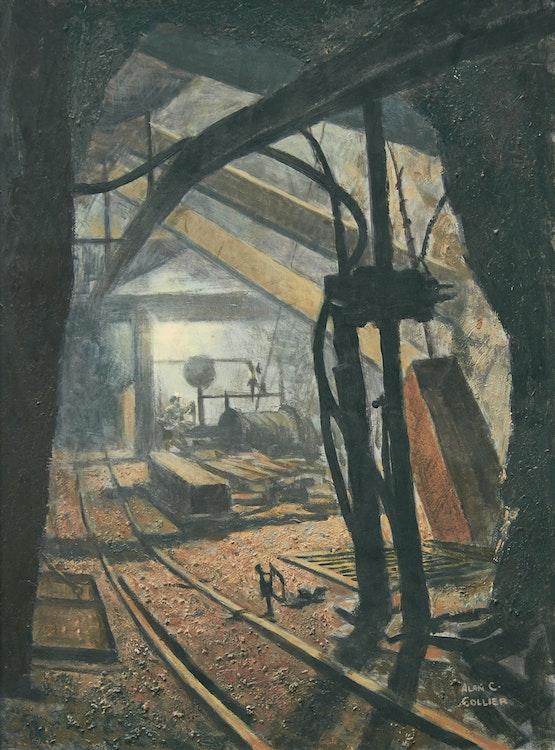 Artwork by Alan Caswell Collier,  The 4025 Hoist, McIntyre