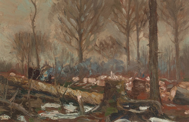 Artwork by Tom Thomson,  Fallen Timber (Algonquin)