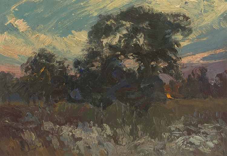 Artwork by James Edward Hervey MacDonald,  Sunset