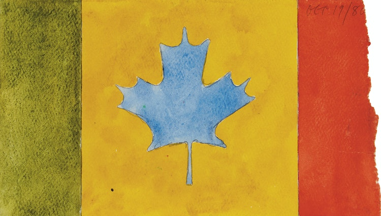 Artwork by Gregory Richard Curnoe,  Untitled (Canadian Flag)
