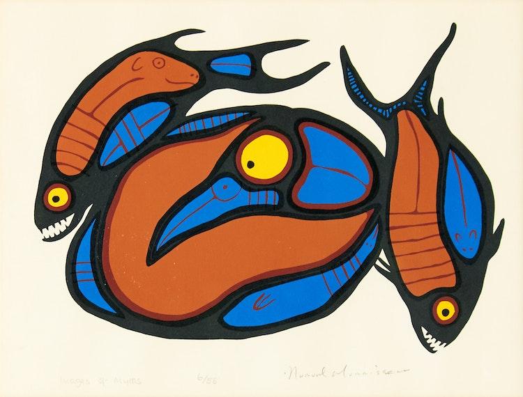 Artwork by Norval Morrisseau,  Images of Myths