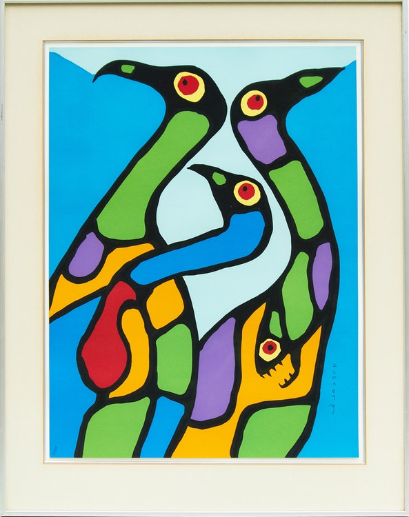 Artwork by Norval Morrisseau,  A Collection of Five Prints