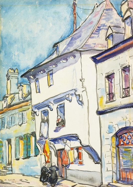 Artwork by Emily Carr,  European Street Scene