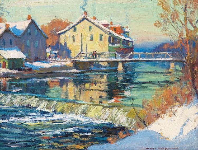 Artwork by Manly Edward MacDonald,  Fall River Landscape