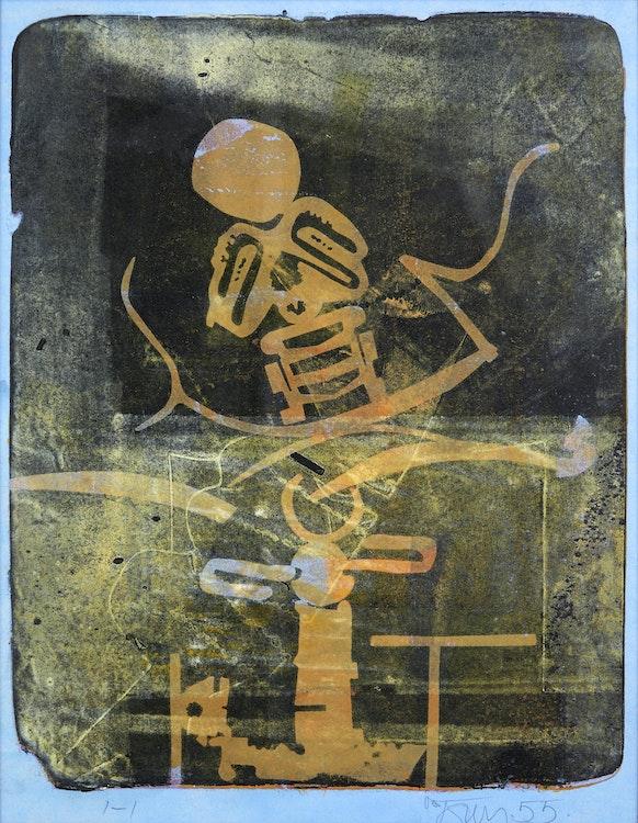 Artwork by Harold Barling Town,  Night Kite, Dust Light