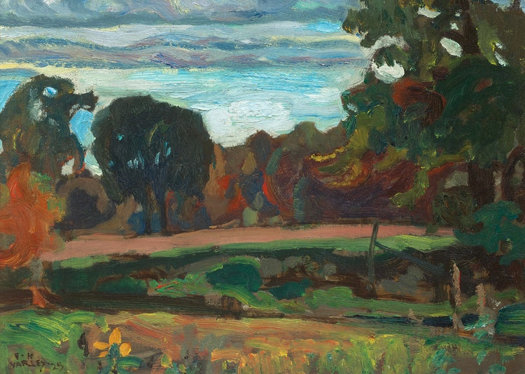 Artwork by Frederick Horsman Varley,  The Valley of the Don
