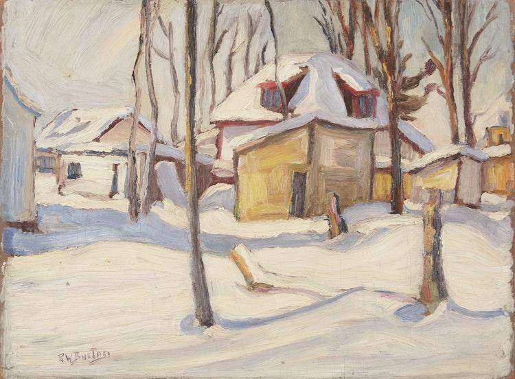 Artwork by Ralph Wallace Burton,  Winter in Woodroffe