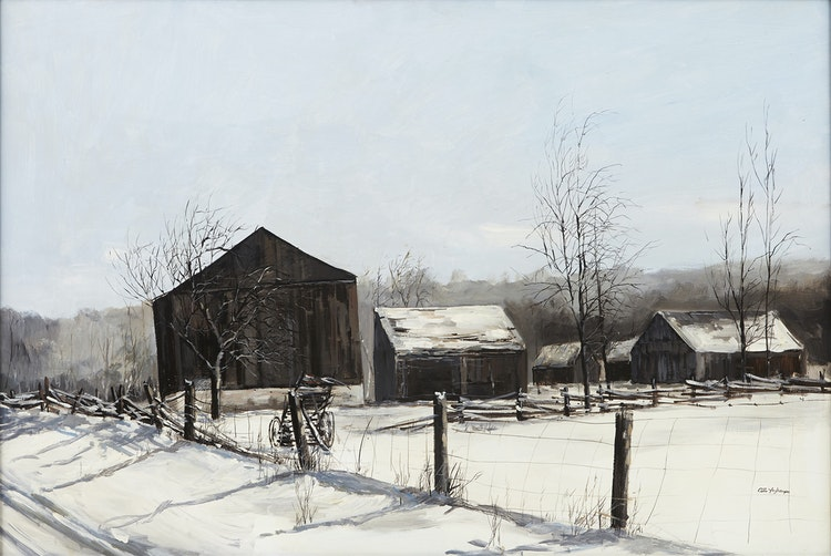 Artwork by Arto Yuzbasiyan,  Old Barn at Barrie