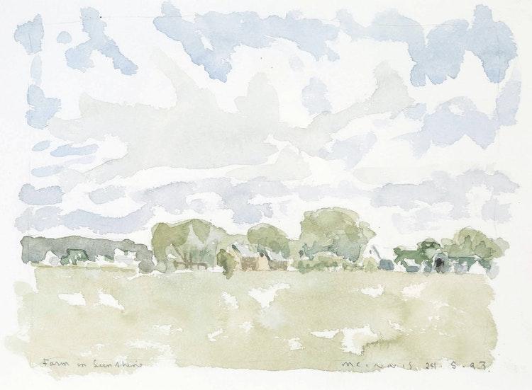 Artwork by Robert Francis Michael McInnis,  Farm in Sunshine