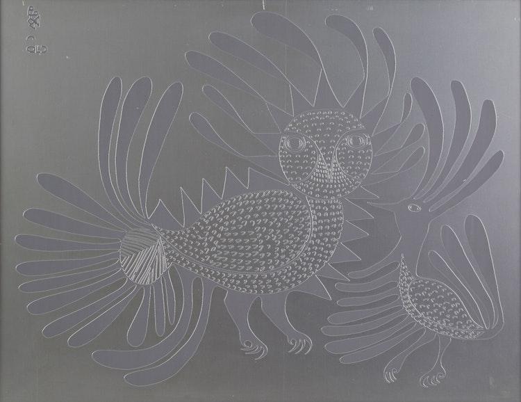 Artwork by Kenojuak Ashevak,  Talking Birds