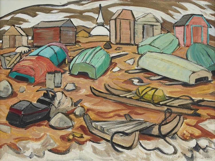 Artwork by Doris Jean McCarthy,  Shore at Frobisher Bay