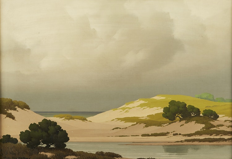 Artwork by Pierre De Clausade,  Sand Dunes in the North