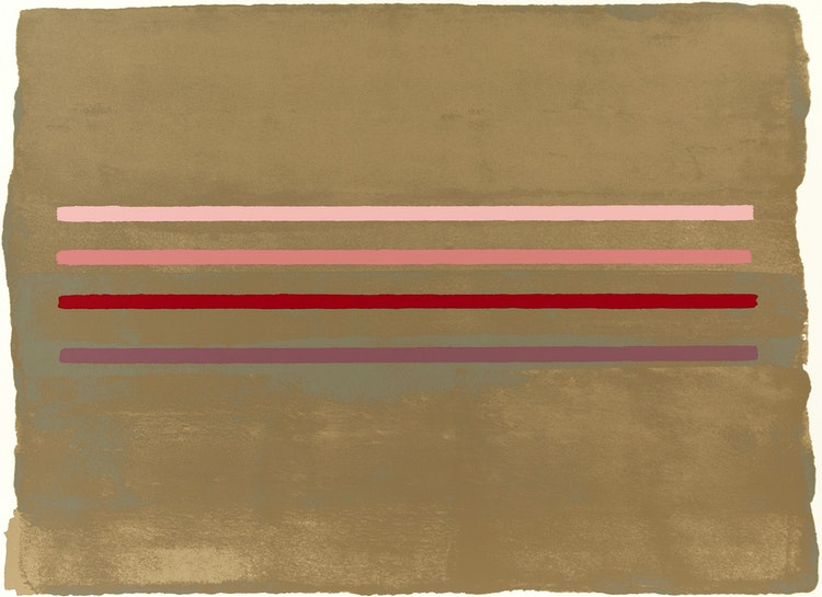 Artwork by William Perehudoff,  La Plonge #10