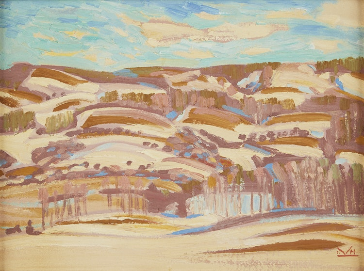 Artwork by Illingworth Holey Kerr,  Hills, Turner Valley