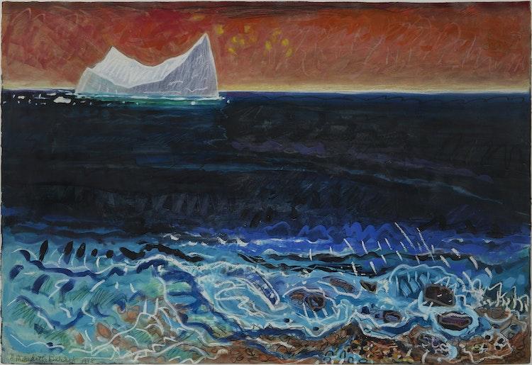 Artwork by Anne Meredith Barry,  Coastline with Iceberg