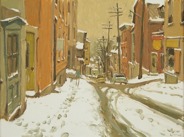 Artwork by John Geoffrey Caruthers Little,  Côte St. Marc, Quebec