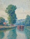 Thumbnail of Artwork by Caroline Helena Armington,  Barge on the Canal
