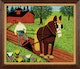 Thumbnail of Artwork by Maud Lewis,  Horse and Farmer Ploughing