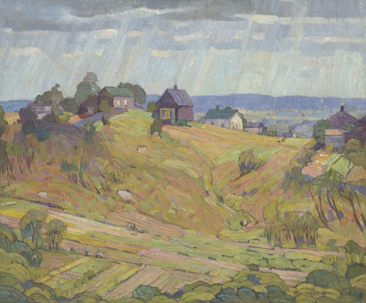 Artwork by Peter Clapham Sheppard,  Edge of Town