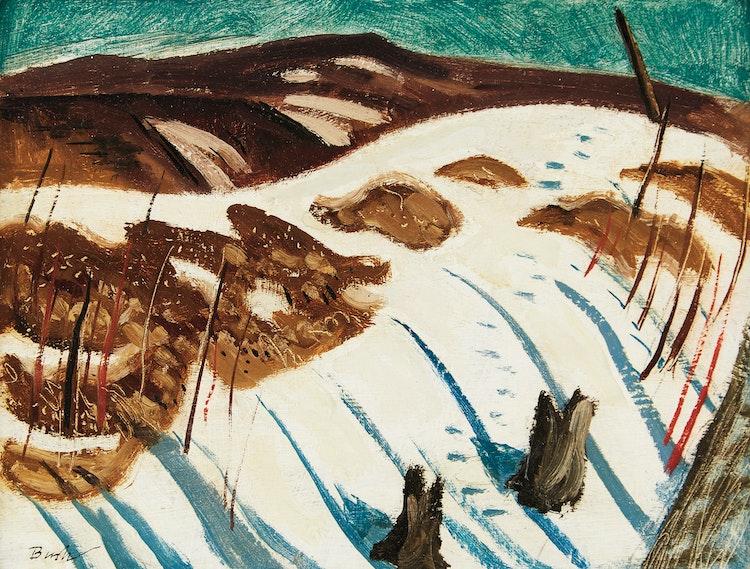 Artwork by Jack Hamilton Bush,  Shadows on Snow, Hoggs Hollow