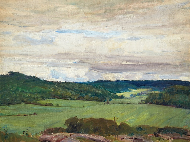 Artwork by Peleg Franklin Brownell,  Summer Sky in the Gatineau