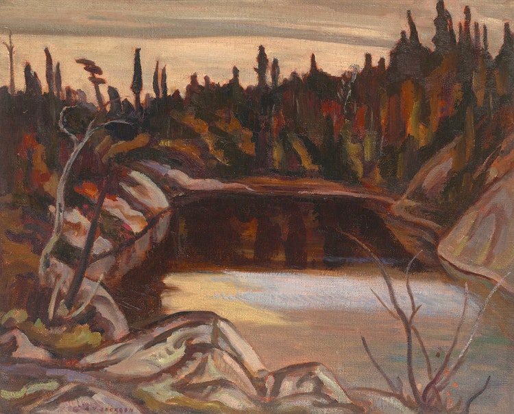 Artwork by Alexander Young Jackson,  Ruisseau Jureux