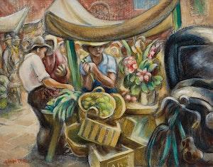 市场摊位(Andall CharlesBi茅ler)的艺术品