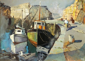 Artwork by John Adrian Darley Dingle, Evening In a Cape Ann Cove