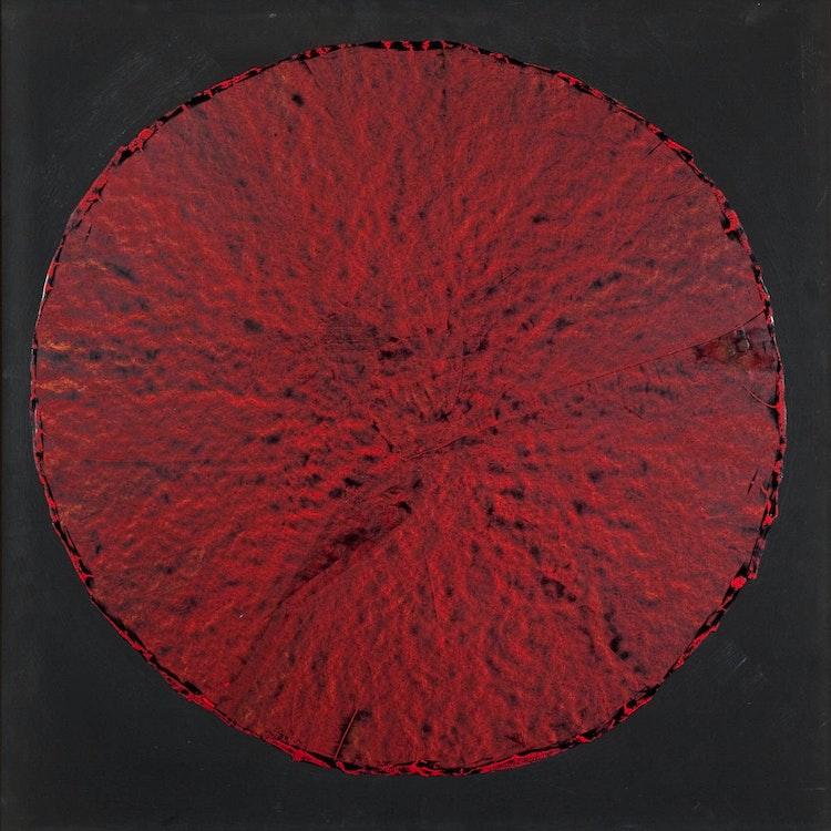 Artwork by Arthur Fortescue McKay,  Red Mandela on Black Background