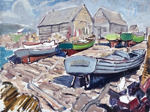 Artwork by Arthur Lismer, Neil's Harbour