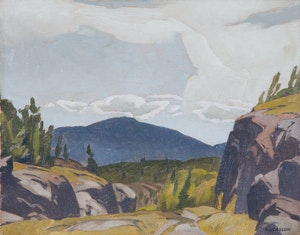 Artwork by Alfred Joseph Casson, Rock Cut on the Espanola Road