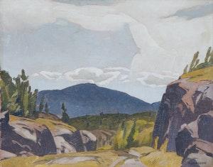 Artwork by Alfred Joseph Casson, Rock Cut on the Espanola Road