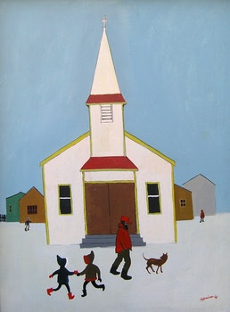 Artwork by Ted Harrison, R. C. Church