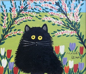 Artwork by Maud Lewis, Black Cat