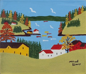 Artwork by Maud Lewis, Autumn, Digby Neck