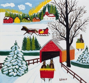 Artwork by Maud Lewis, Covered Bridge #1