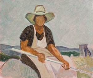 Artwork by Anne Douglas Savage, Figure in a Landscape