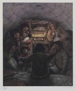 Artwork by William Kurelek, Story Telling