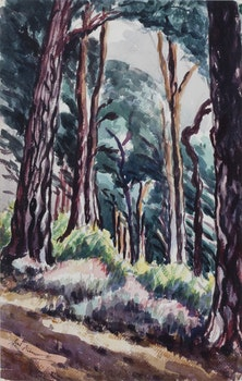 Artwork by Sybil Andrews, Forest