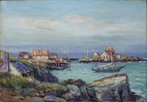 Artwork by George Horne Russell, Blue Rocks,  Nova Scotia