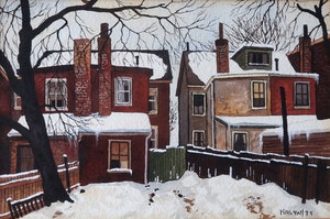 Artwork by John Kasyn, Along Harbord Street