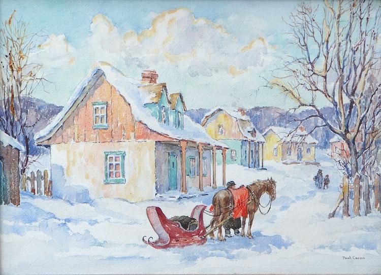 Artwork by Paul Archibald Caron,  House of Wm Brymner, P.R.C.A., Baie St. Paul, P.Q.