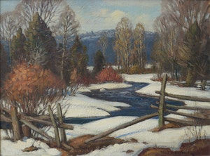Artwork by Frank Shirley Panabaker, The Boyne River, Near Alliston