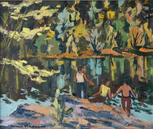 Artwork by Henri Leopold Masson, Fishing in the Gatineau River